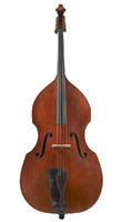 Double bass , made by Malcolm Healey
